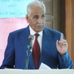 Munir Badini during his lecture